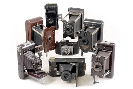 Group of Folding Bakelite Cameras.