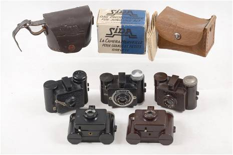 Rare Group of Sida Miniature Cameras from 4 Countries.