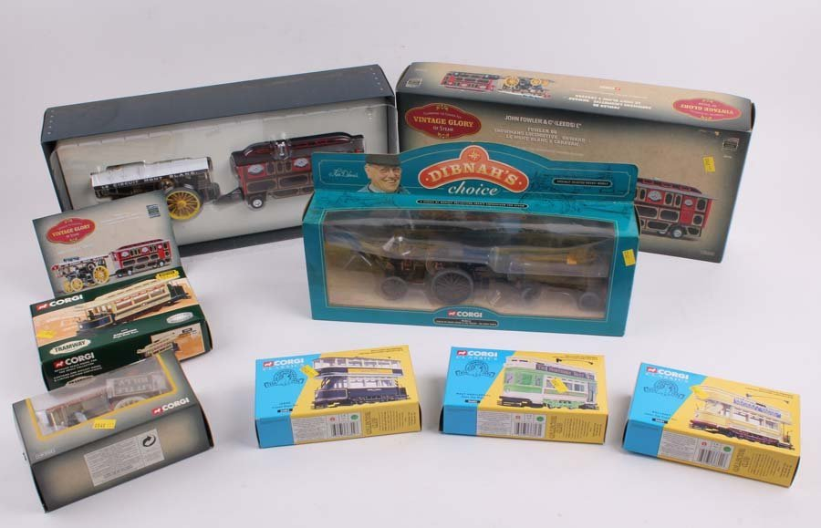 1: A small collection of boxed and mint Corgi vehicles