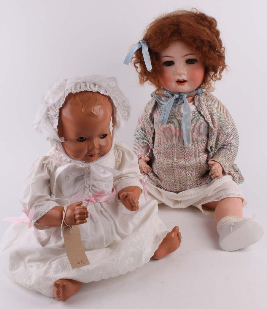 6: A Heubach Koppelsdorf 300 bisque head toddler doll a