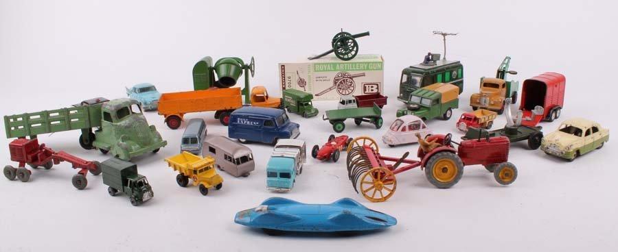 9: A quantity of die-cast cars, trucks, farm vehicles a