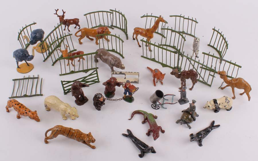 10: J. Hill and Co, a quantity of lead zoo animals, kee