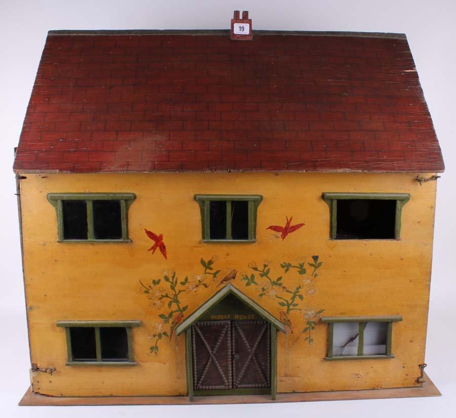 """19: A 1930s """"Hussar House"""", scratch built wooden painte"""