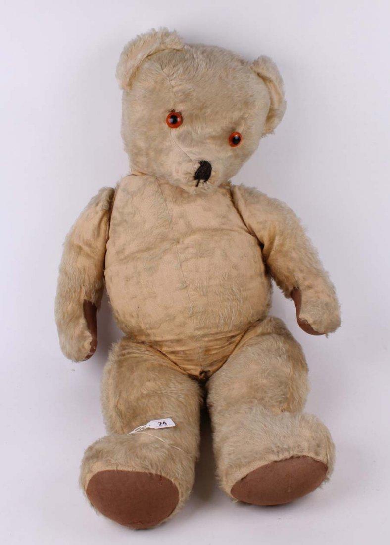 24: A large golden mohair Teddy bear, possibly Irish 19