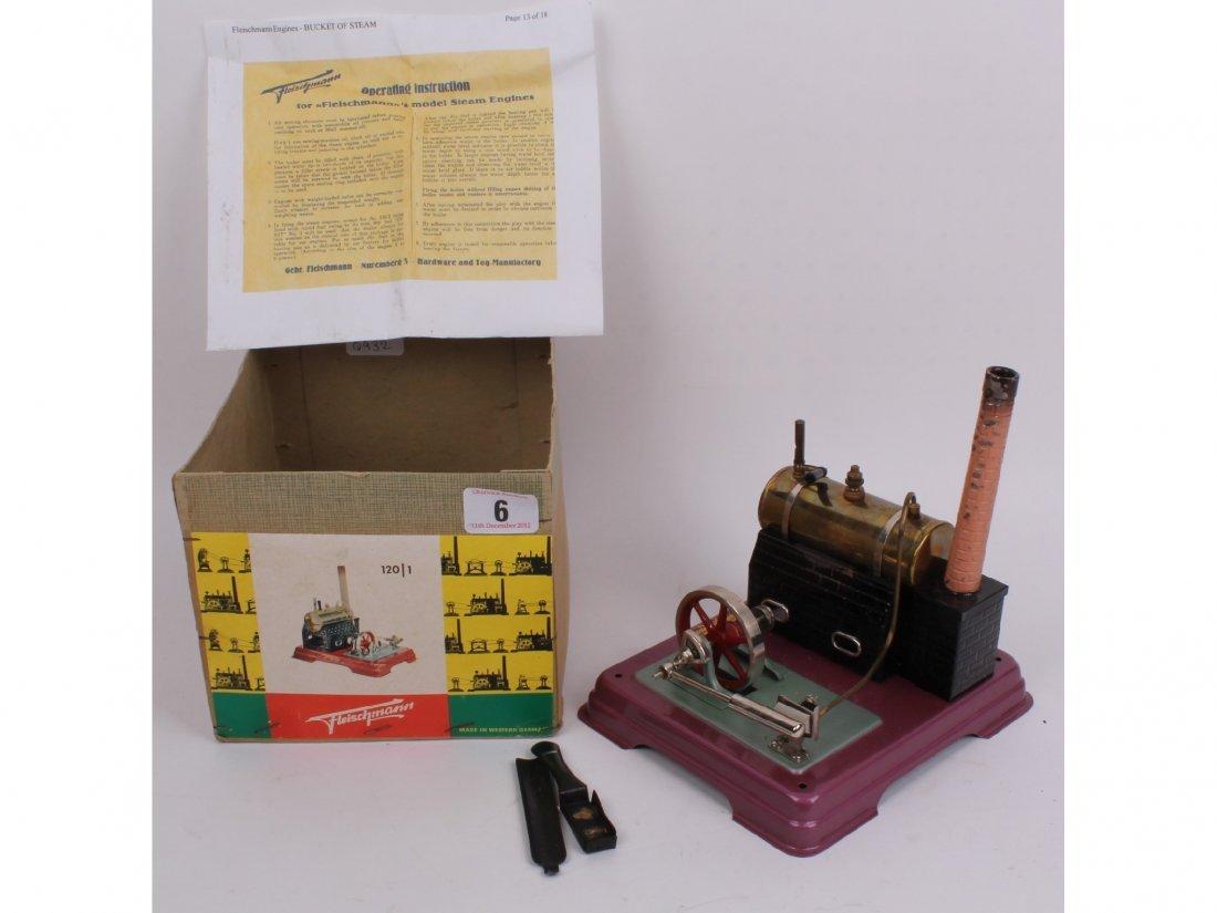 6: A Fleishmann steam engine, German, vintage horizonta