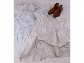 14: A Victorian quantity of three fine baby gowns with