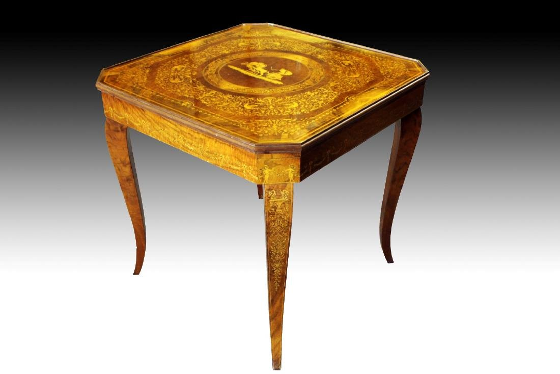 ITALIAN INALID MULTI GAME TABLE W/ GAME PIECES