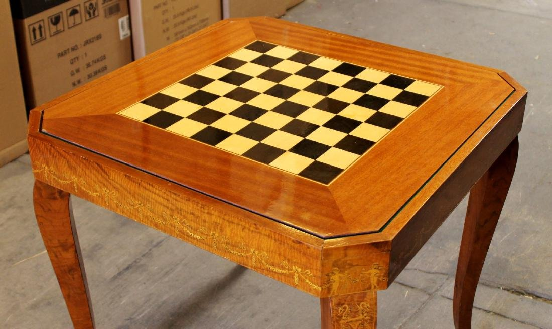 ITALIAN INALID MULTI GAME TABLE W/ GAME PIECES - 4