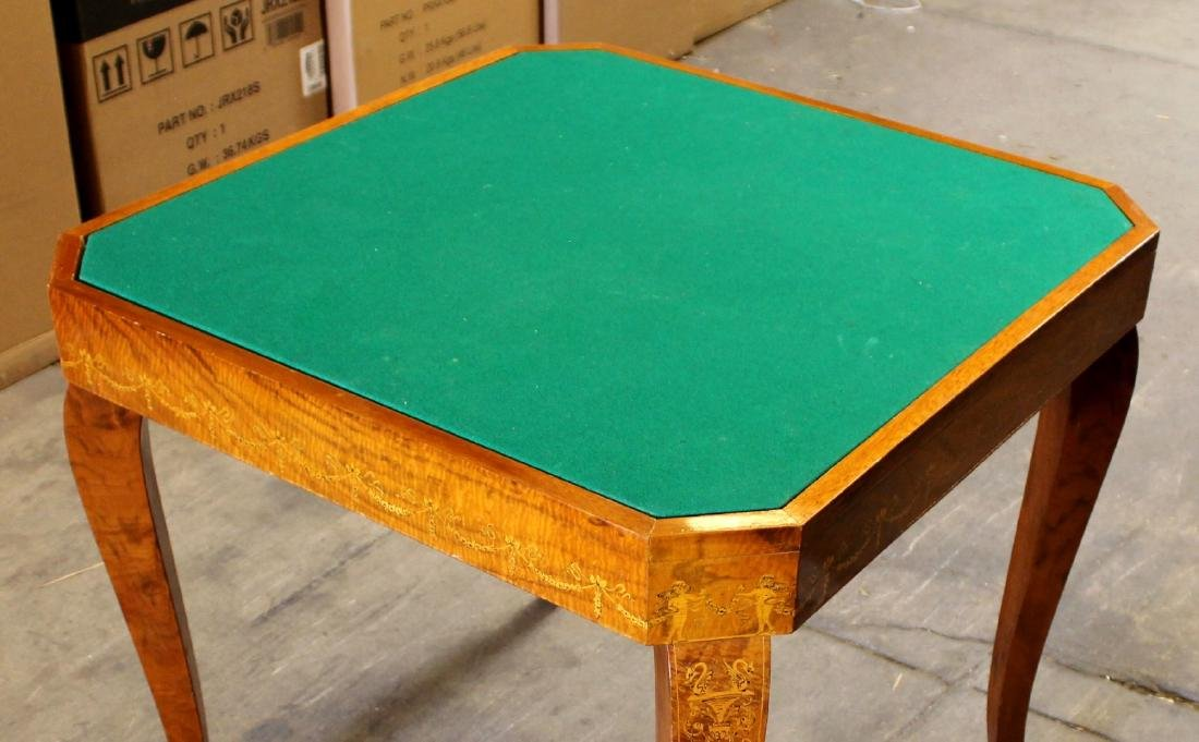 ITALIAN INALID MULTI GAME TABLE W/ GAME PIECES - 5