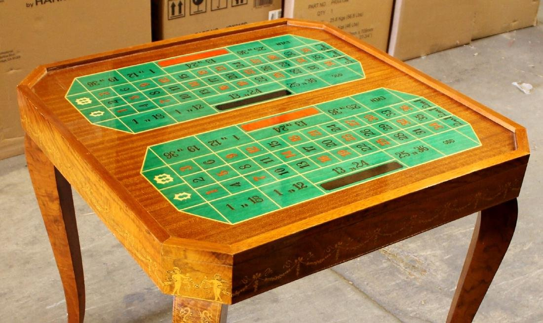 ITALIAN INALID MULTI GAME TABLE W/ GAME PIECES - 6