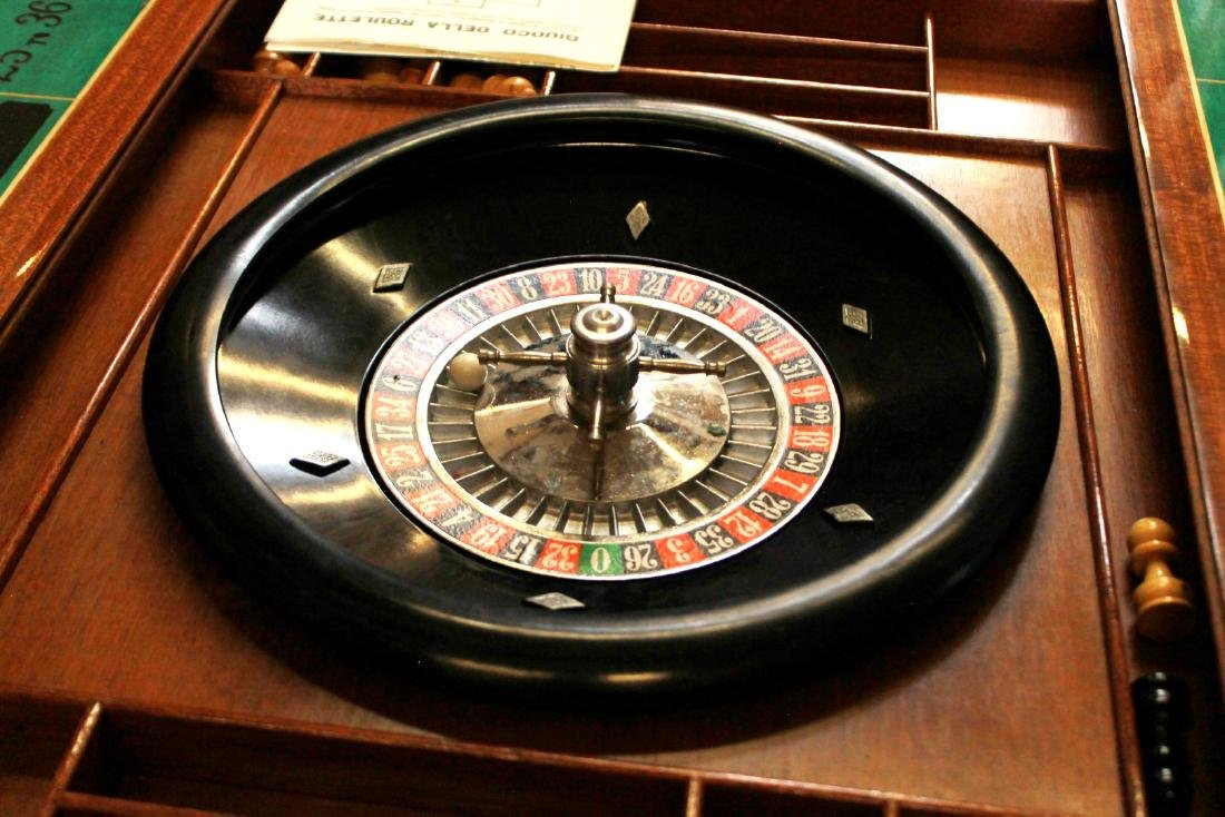 ITALIAN INALID MULTI GAME TABLE W/ GAME PIECES - 9