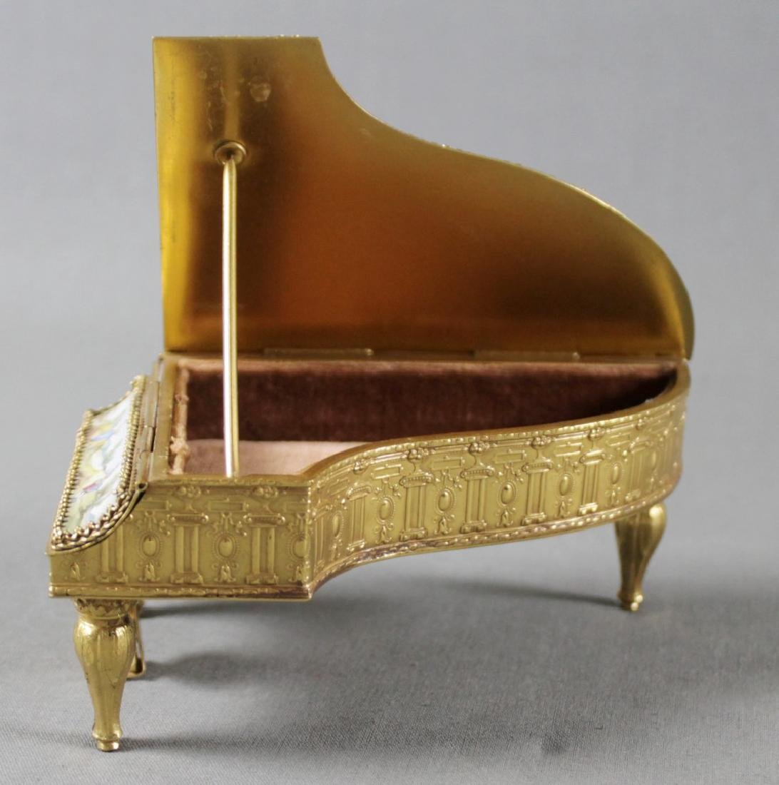 VIENNESE ENAMEL PIANO SHAPED BOX - 5