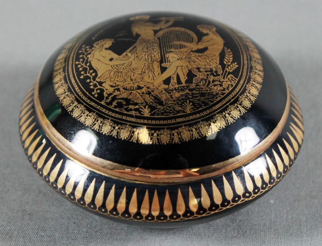 LIMOGES PORCELAIN 24K GOLD JEWELERY BOX - 2