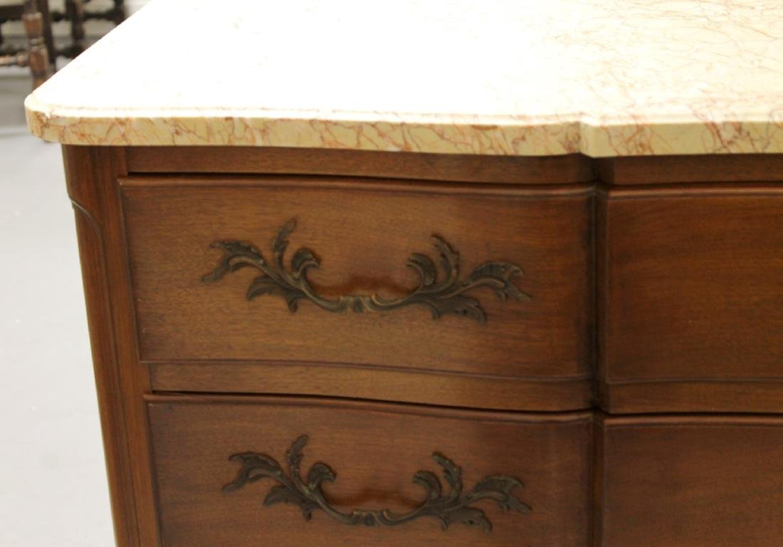 ANTIQUE MARBLE TOP CABINET CHEST - 2