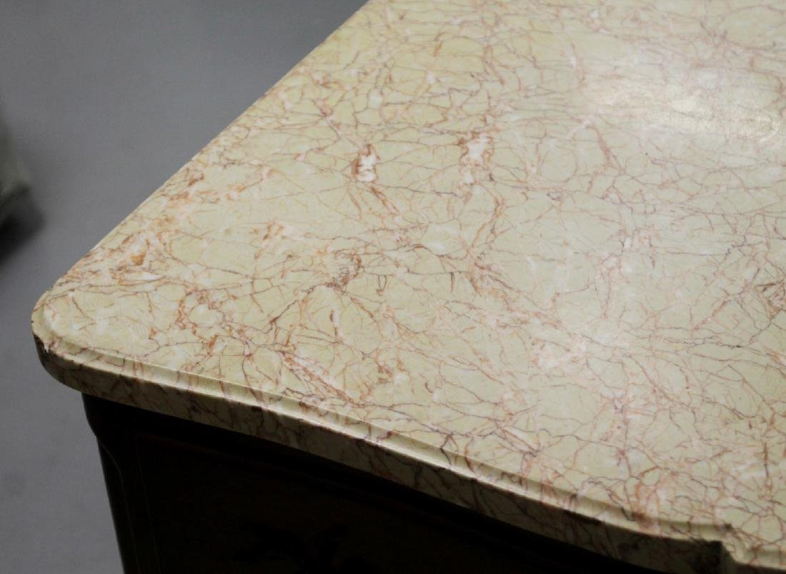 ANTIQUE MARBLE TOP CABINET CHEST - 3