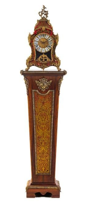 A Napoleon III Style Simulated Boulle Marquetry Clock