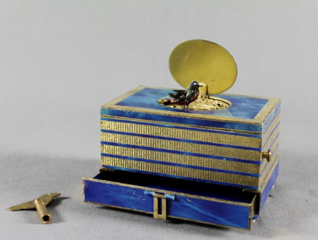 AUSTRIAN LAPIZ BIRD MUSIC BOX