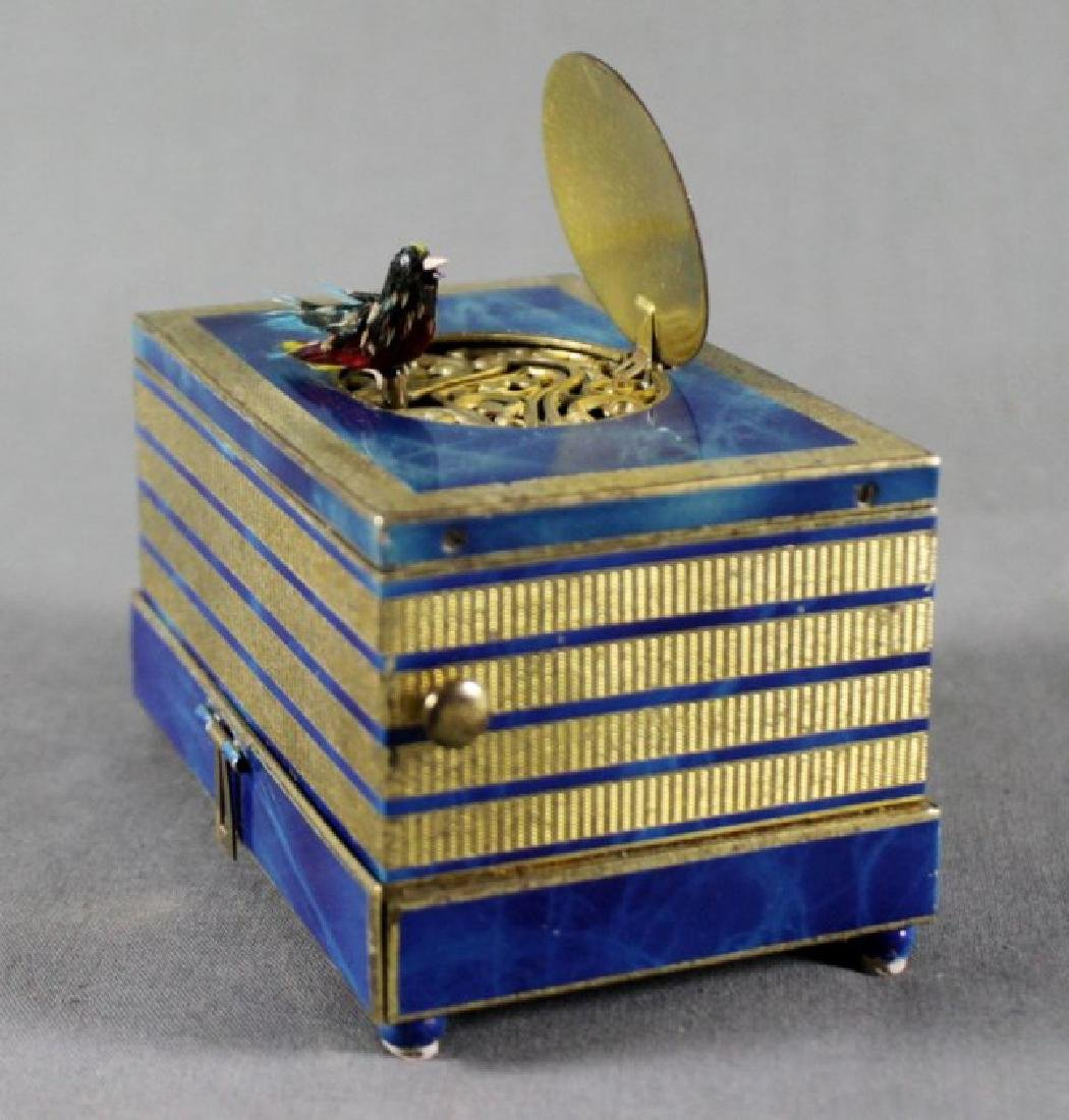 AUSTRIAN LAPIZ BIRD MUSIC BOX - 3