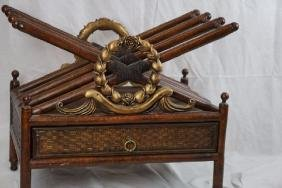 Magazine Rack in the Manner of Maitland Smith