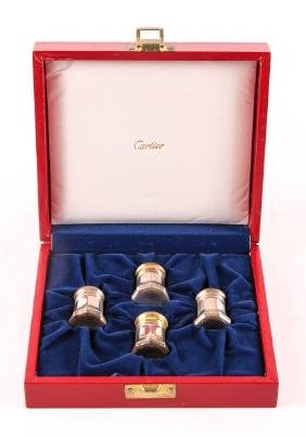 Cartier Sterling Silver Pepper Shakers