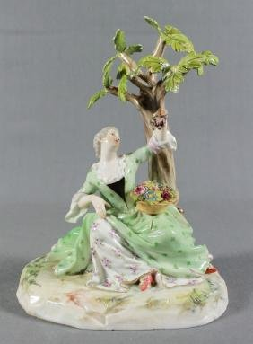 LATE 19TH CENTURY MEISSEN PORCELAIN FIGURE