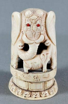 CHINESE ELEPHANT CARVING