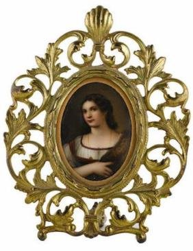 CONTINENTAL OVAL PORCELAIN PLAQUE EARLY 20TH CENTURY