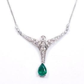 Columbian Emerald & Diamond Necklace