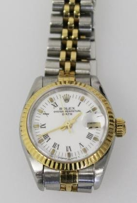 ROLEX DATEJUST LADIES TWO TONE 14K & STAINLESS STEEL