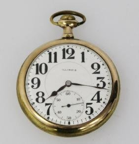 ILLINOIS B.W. RAYMOND POCKET WATCH 21 JEWEL RAILROAD
