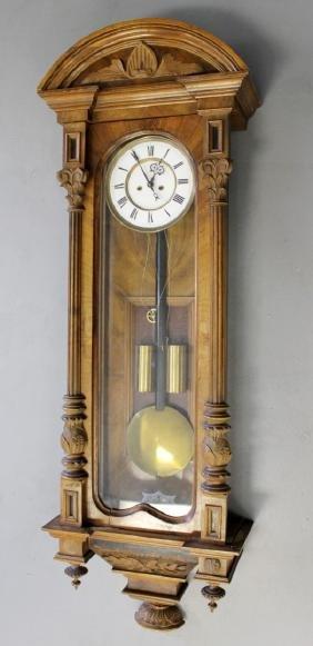 2 WEIGHT VIENNA REGULATOR WALL CLOCK
