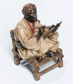 Austrian Cold-painted Bronze Figure, early 20th century