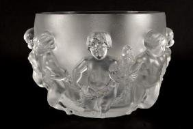 "Lalique ""Luxembourg"" Crystal Vase"