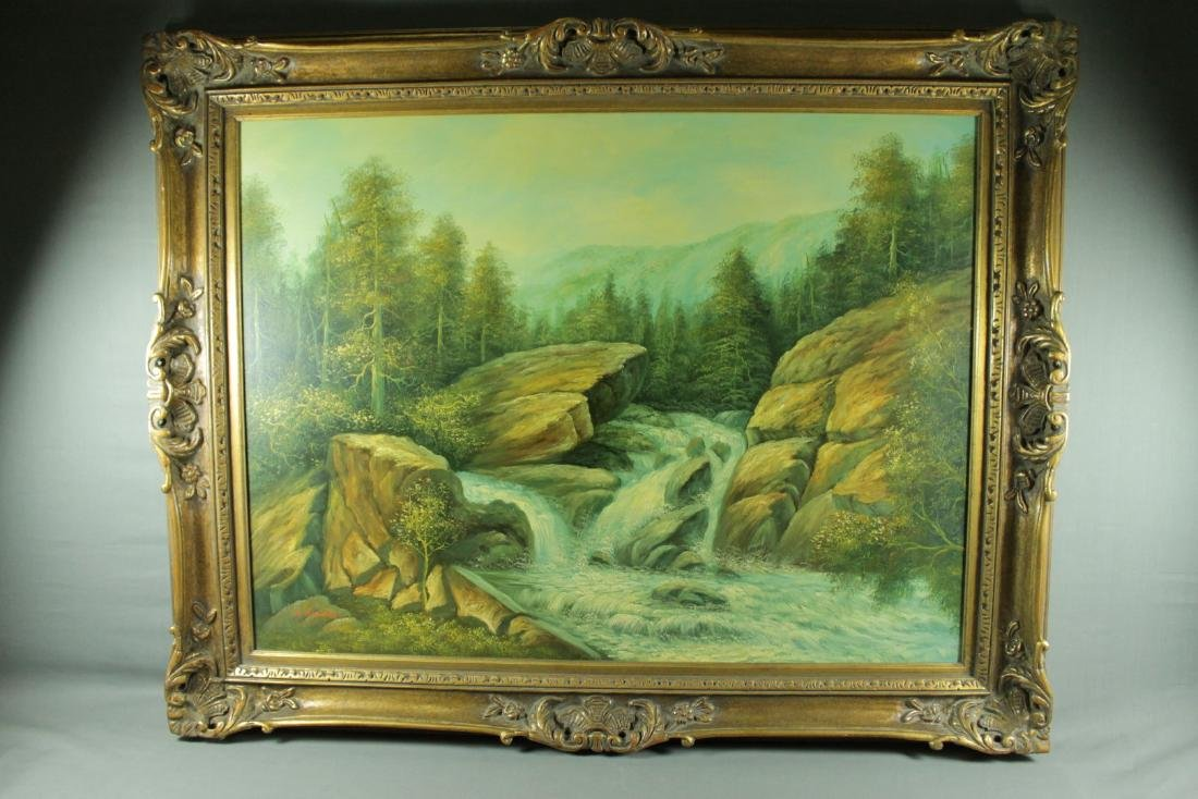 LARGE LANDSCAPE PAINTING SIGNED