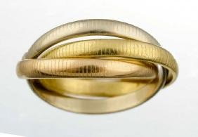 A Tricolor Gold Ring, Cartier