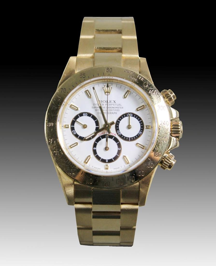 Rolex 18k Yellow Gold Daytona Wristwatch