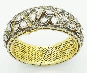 14k Gold & Silver 12.00 Tcw Table Rose Cut Bengal