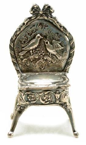 German Rococo Silver Miniature Chair