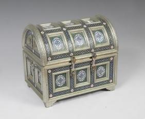 Persian Style Enameled Trunk