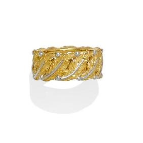 An 18k Bi-color Gold Band, Buccellati