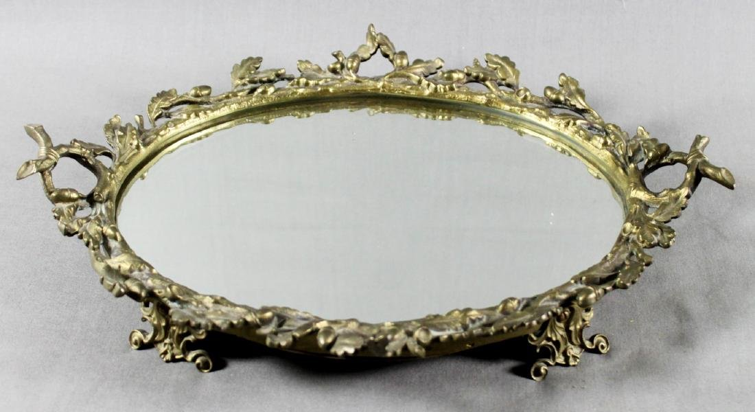 BRONZE MIRRORED TRAY
