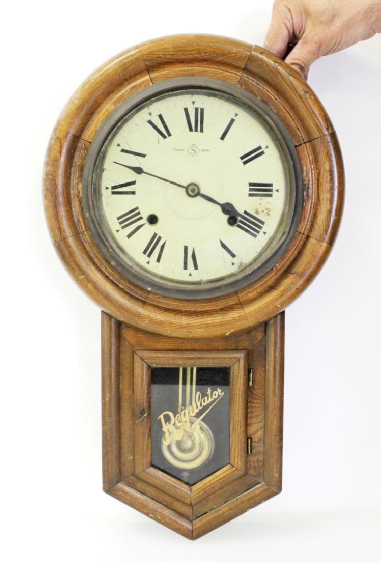 ANTIQUE SCHOOLHOUSE CLOCK