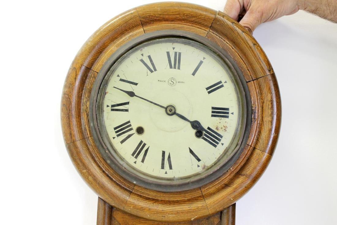 ANTIQUE SCHOOLHOUSE CLOCK - 2