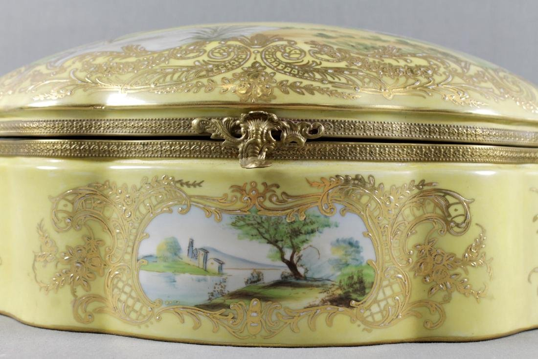 LARGE SEVRES STYLE BOX - 2