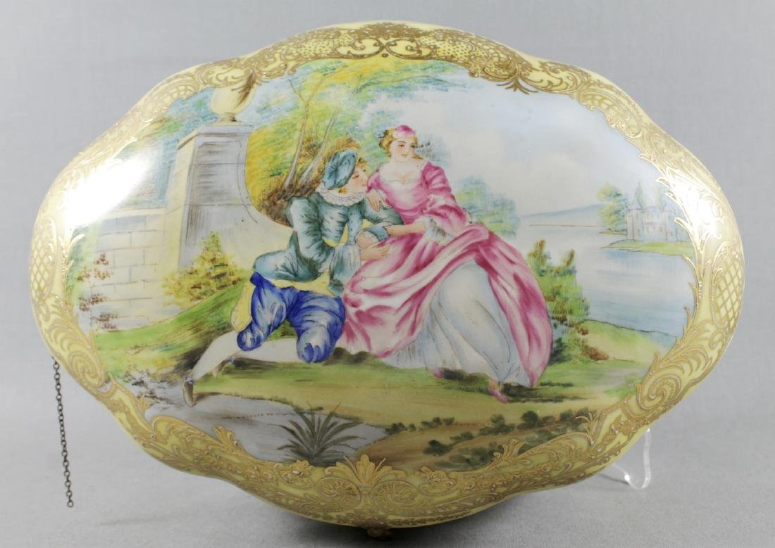 LARGE SEVRES STYLE BOX - 3