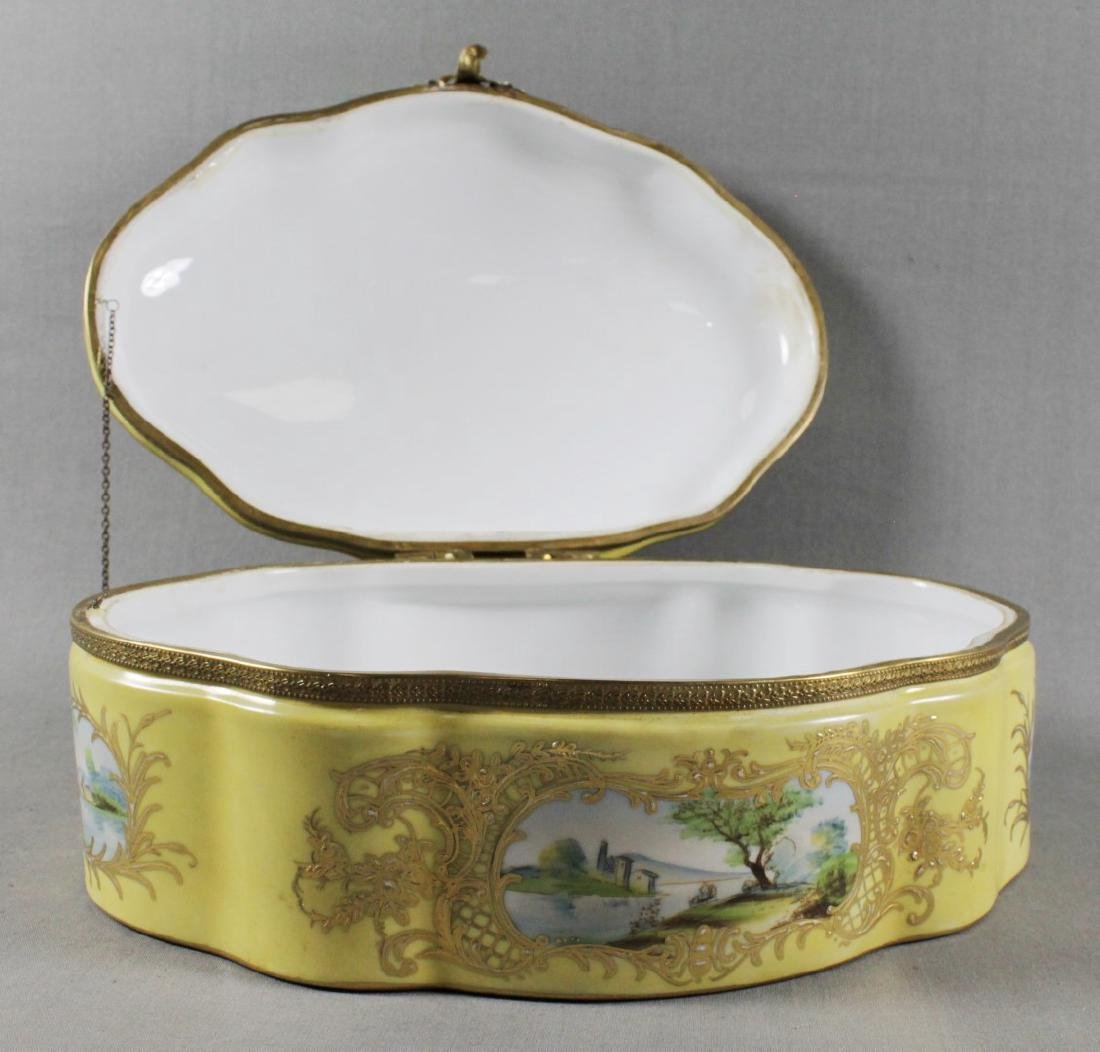 LARGE SEVRES STYLE BOX - 5