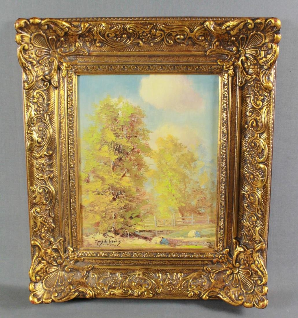 PAINTING OF TAOS LANDSCAPE SIGNED THOMAS LEWIS