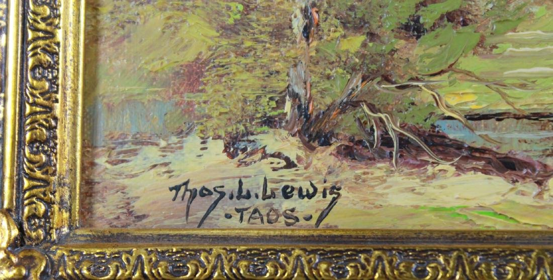 PAINTING OF TAOS LANDSCAPE SIGNED THOMAS LEWIS - 3