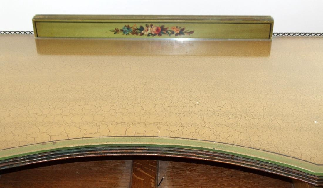 Antique English Victorian painted vanity with classical - 2