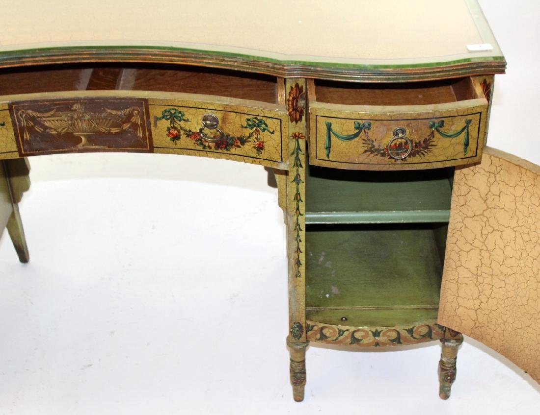 Antique English Victorian painted vanity with classical - 5